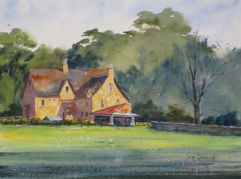 How To Paint Houses In Watercolor
