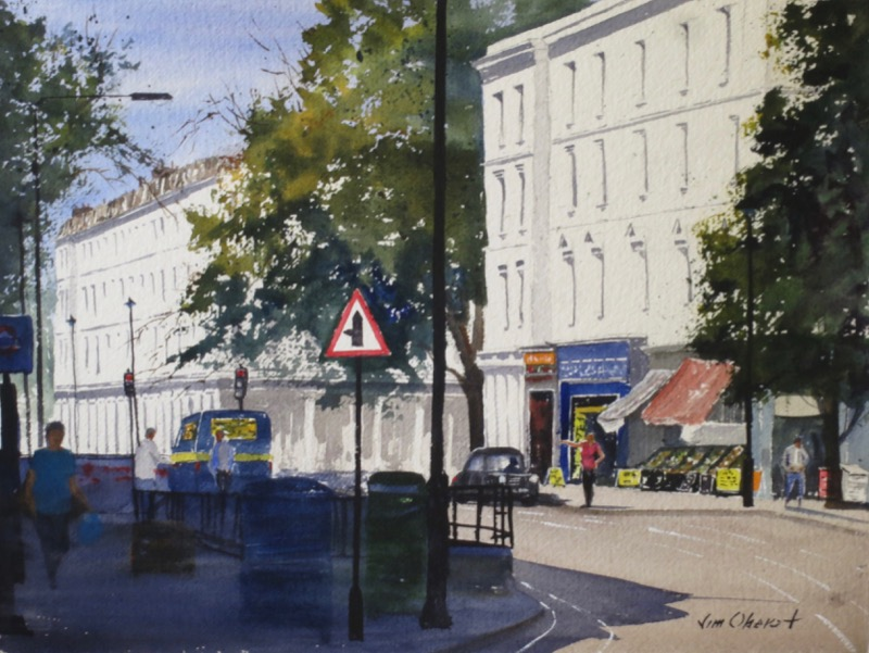 cityscape, landscape, city, urban, london, england, uk, europe, watercolor, painting, oberst